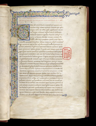 Illuminated Initial And Border, In Caesar's 'Commentaries' With Additions